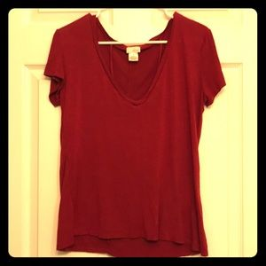 Wet Seal Red Blouse W/ Necklace Front